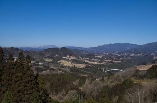 Peaks of Mt Aso on the left back