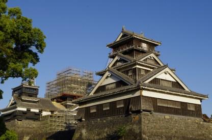 Uto Yagura watch tower and castle keeps of Kumamoto castle