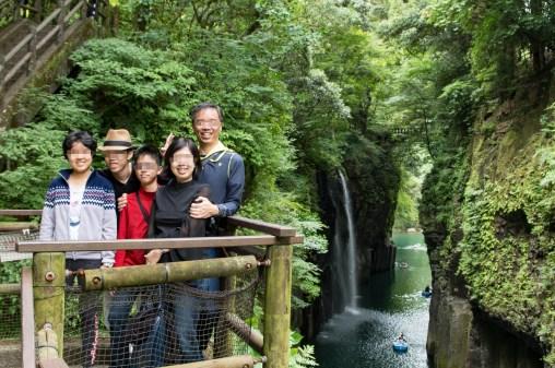 Observation deck at Takachiho Gorge