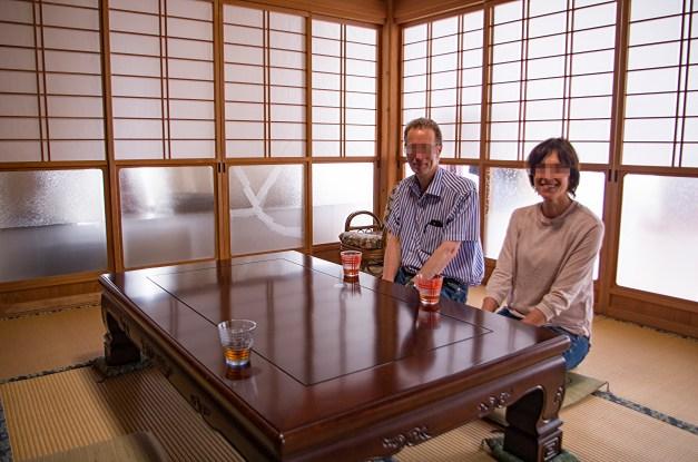 Reception room in the Hashizaki's home