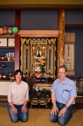 Buddhist altar in the Hashizaki's home
