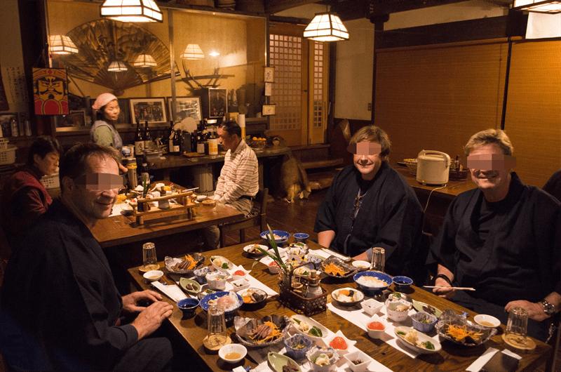 dinner at Sakura-so