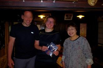 With Tayoko san, owner of Heike-so