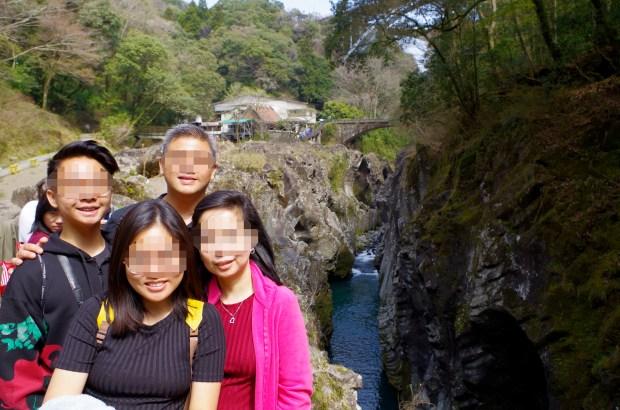 beautiful rock walls of Takachiho gorge