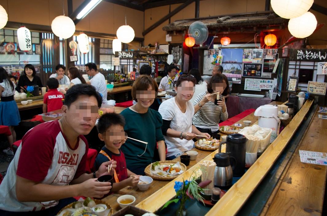 Nagashi somen noodles