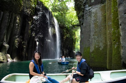 Boating at Takachiho gorge