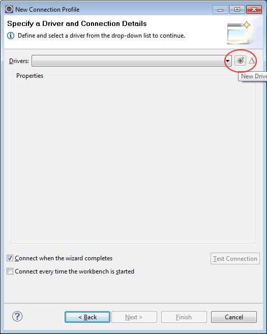 Configuring MySQL driver for Seam project in connection profile
