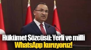 Bekir Bozdağ, yerli ve millî whastapp açıklaması yaptı