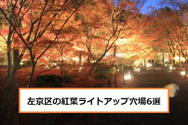京都左京区の紅葉ライトアップ穴場おすすめ