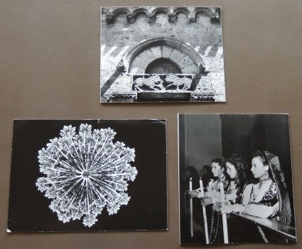 Christmas cards from Tet Arnold Von Borsig, 1957, 1958, 1966.