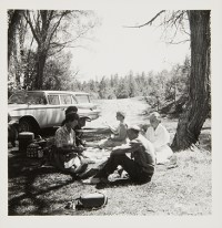 Georgia O'Keeffe and Friends at Picnic, undated Unidentified photographer Black and white photograph 5 x 5 in. 2014.03.205