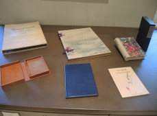All of these publications are from O'Keeffe's personal libraries. They demonstrate an array of binding, marble paper, and housing possibilities.