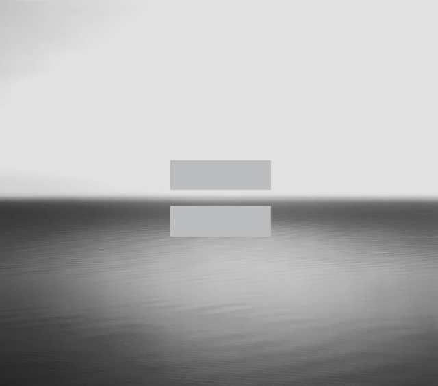 "U2's album sleeve, photo ""Boden Sea"" by Hiroshi Sugimoto"