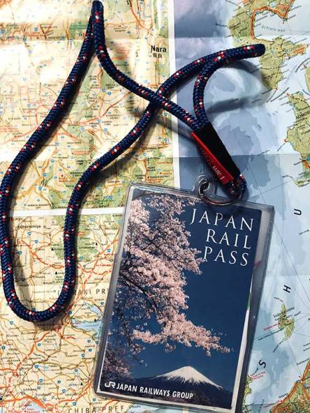 Japan Rail Pass hoesje en lanyard