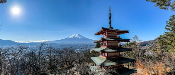 Mount Fuji at Chureito Pagoda