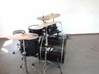 Drum kit at percussion practice room