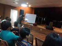 Gatham Dr. S.Karthik teaching us.