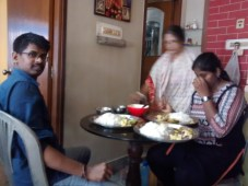 Not a good click, but my friends were enjoying the food