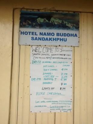 Hotel Namo Buddha, our camp at Sandakphu