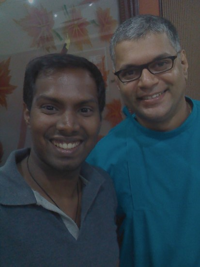 With my dentist Dr Sanjay Jacob