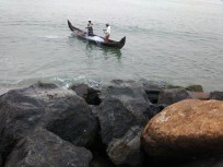 Fishermen in action