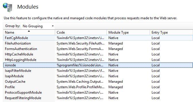 IIS Module registered