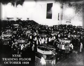stock market crash 1929 NYSE