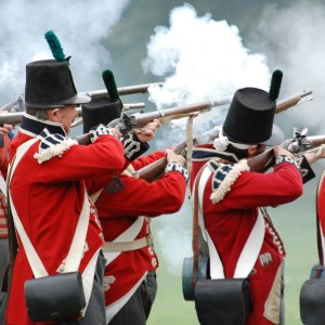 British Redcoats Muskets