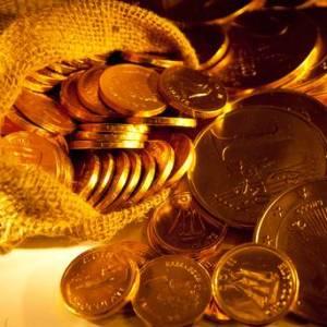 Burlap Sack Gold Coins