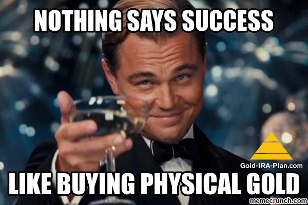 The Great Gatsby Knows Success - He Buys Physical Gold in IRA