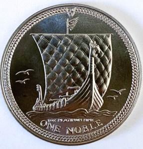 1 Oz Platinmünze Noble Isle of Man Münze Vorne