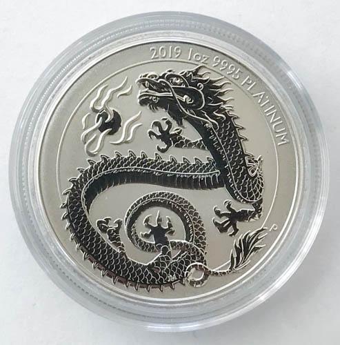 Dragon Drache 1 Oz Platin-Münze 2019