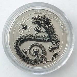 Dragon Drache 1 Oz Platin-Münze 2019
