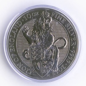 10 oz Silber Münze Queens Beasts Lion of England 2017