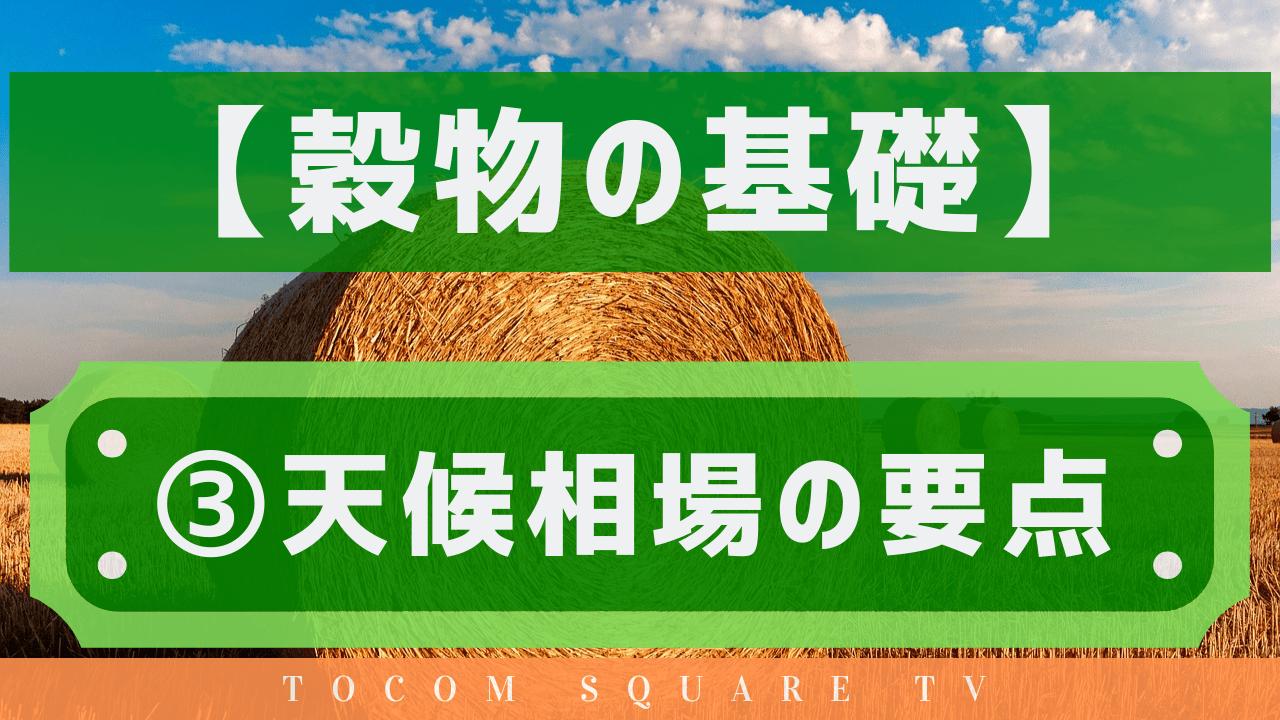 【穀物(GRAIN)の基礎知識】TOCOM上場商品の基礎知識