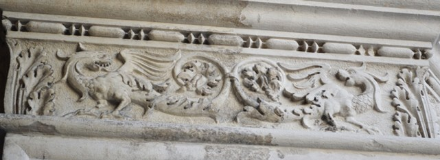 Dragon detail on a pilar in Palazzo Ducale (Doge's palace)