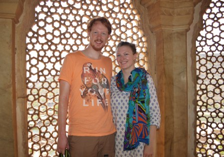Leanne ans Zac at Amer Fort