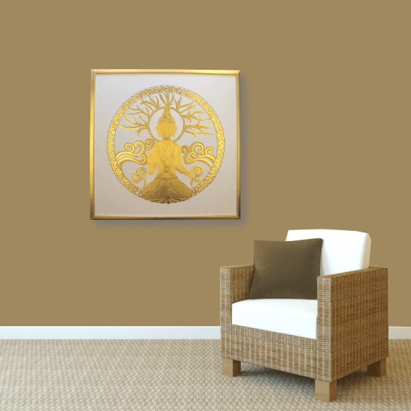 Buddha in Gold Couch