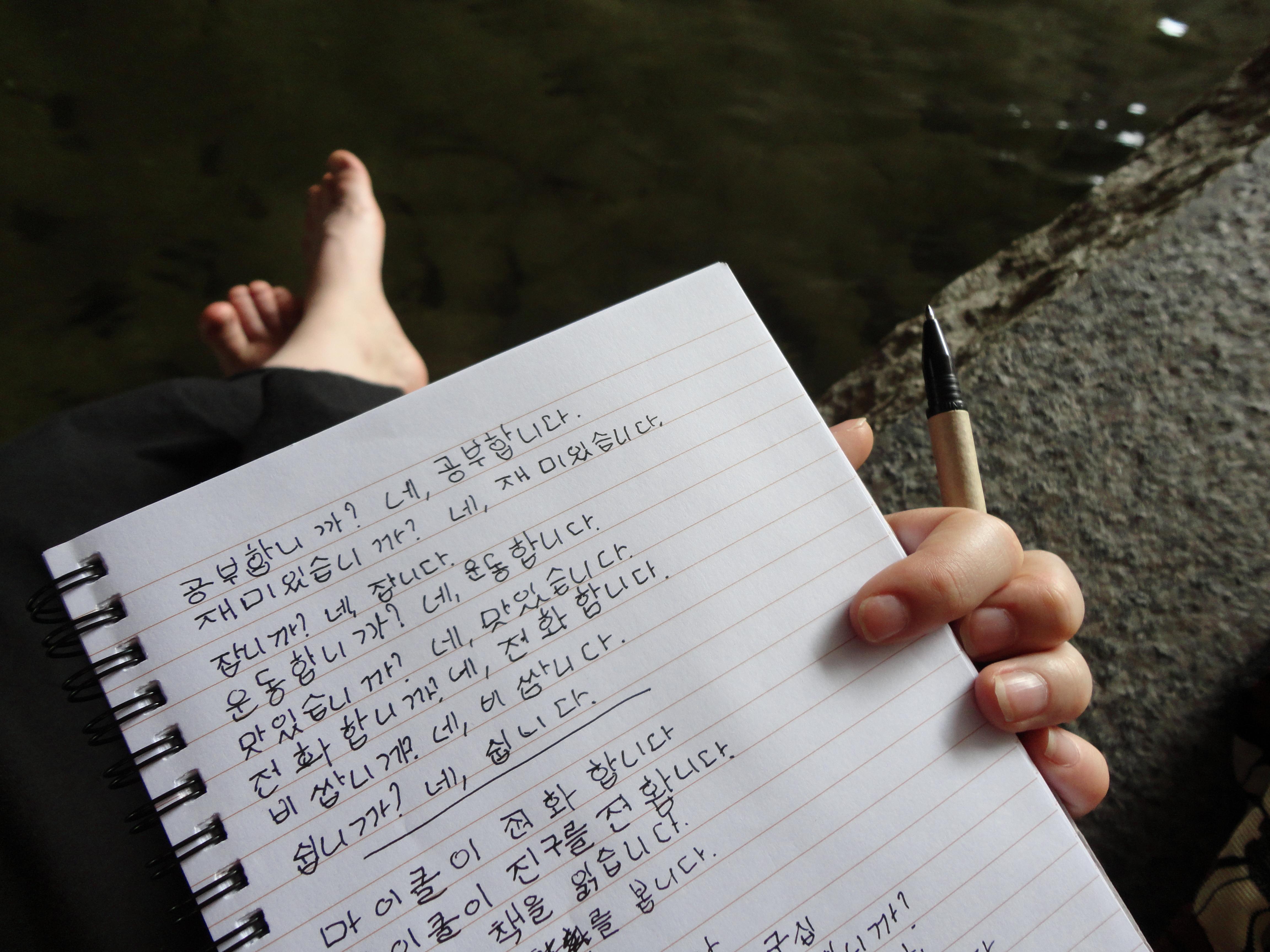 Homework Korean