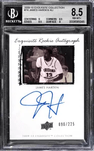 James Harden Exquisite Collection Autograph Rookie Card