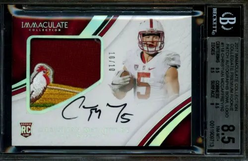 christian mccaffrey rookie card value
