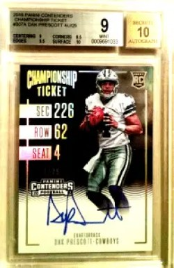 Dak Prescott rookie ticket