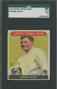1933 Babe Ruth Goudey Sport Kings