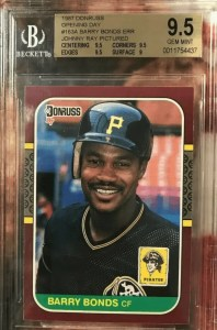 barry bonds topps rookie card