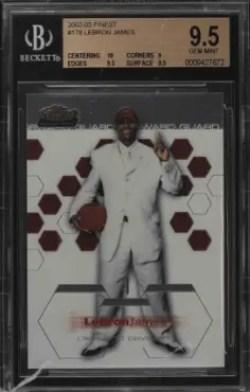ebron james rookie card value