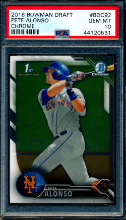 pete alonso rookie card bowman