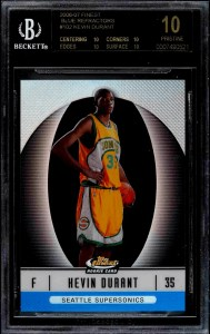 Kevin Durant Finest Rookie Card