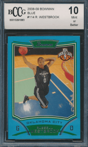 Russell Westbrook bowman Rookie Card