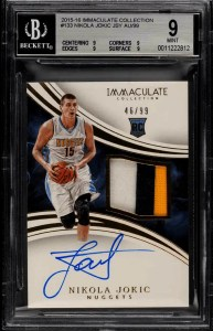 Immaculate Collection Nikola Jokic rookie card