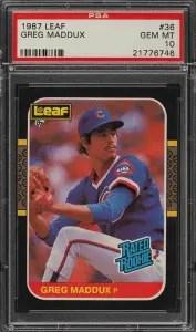 Greg Maddux Leaf Baseball Card
